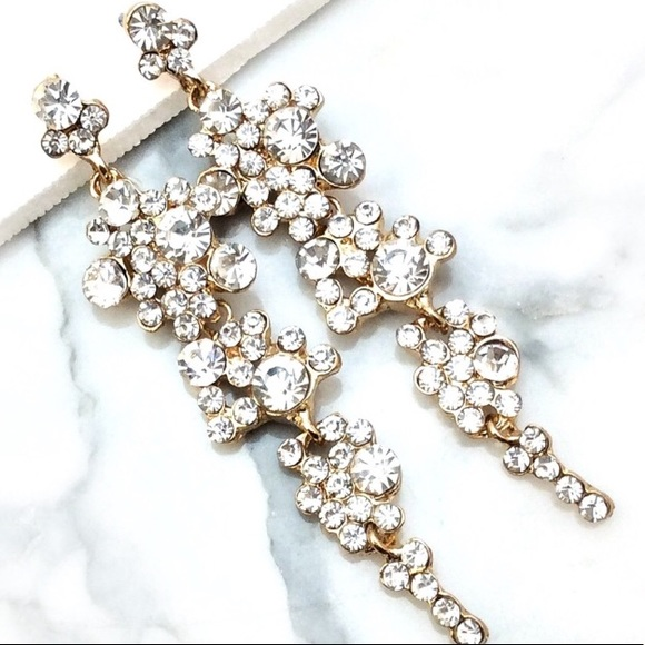 Cherryl's Jewelry - Clear Crystal Rhinestone Special Event Earrings